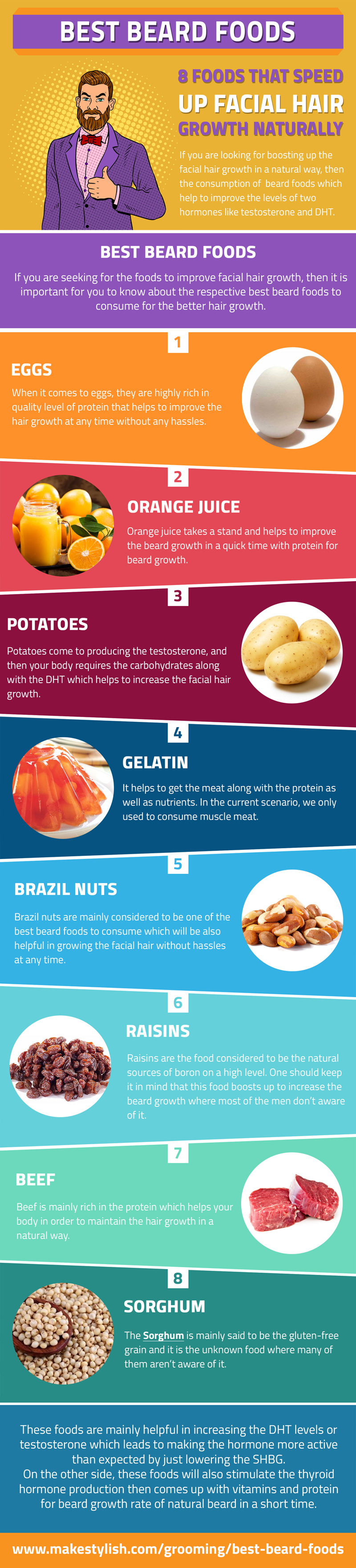 Best Beard Foods infographic
