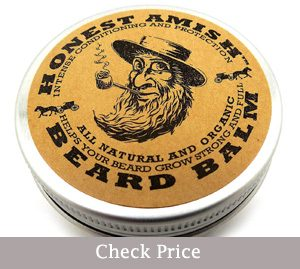 honest amish beard balm leave-in conditioner- facial hair growth oil