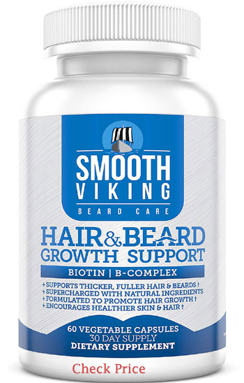 smooth viking hair & beard growth support supplements